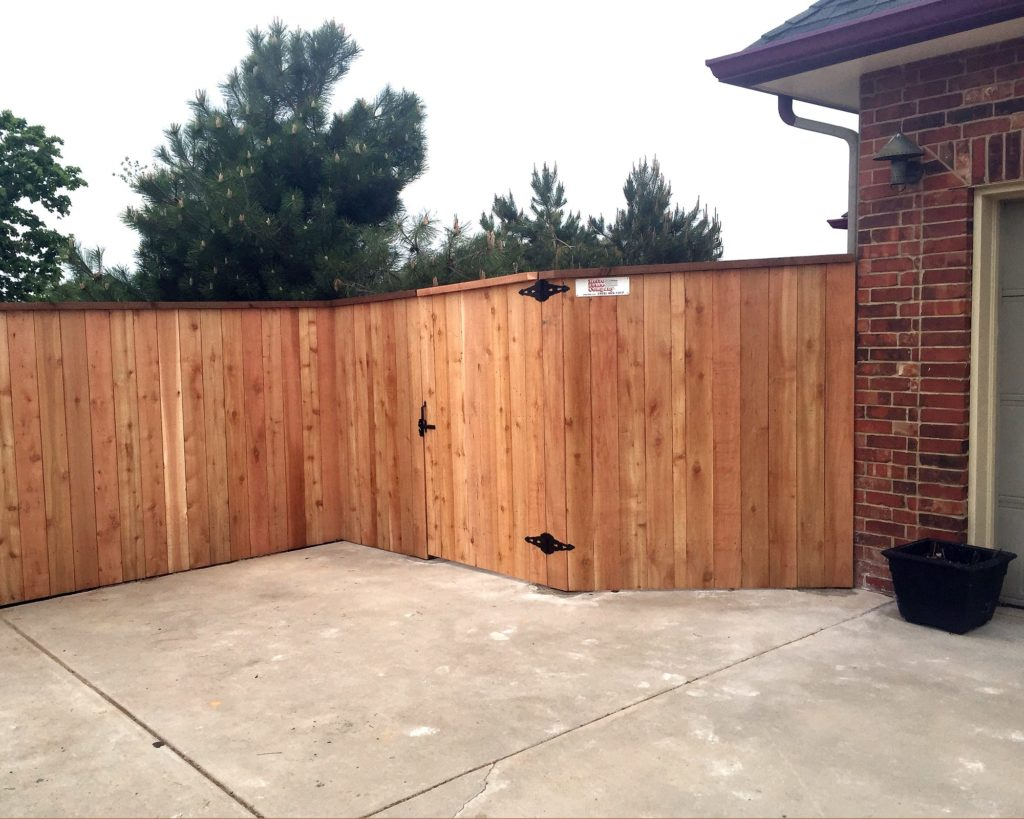 wood fence privacy