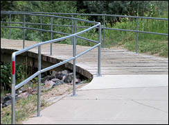 railing installed on path and bridge in denver