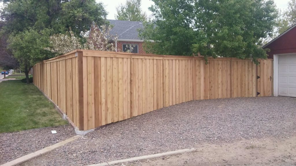 new wood fence - residential