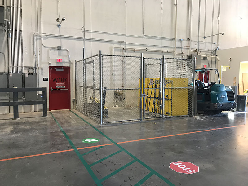 , Warehouse Facilities, Metro Fence, Metro Fence
