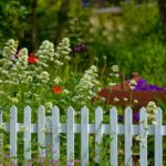 Westminster fencing with beautiful gardening