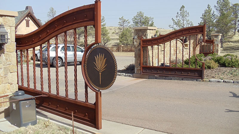 Dual-Swing-Gates-for-Gated-Community-