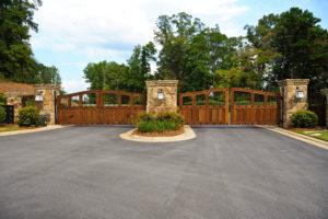residential fence company provides gated security