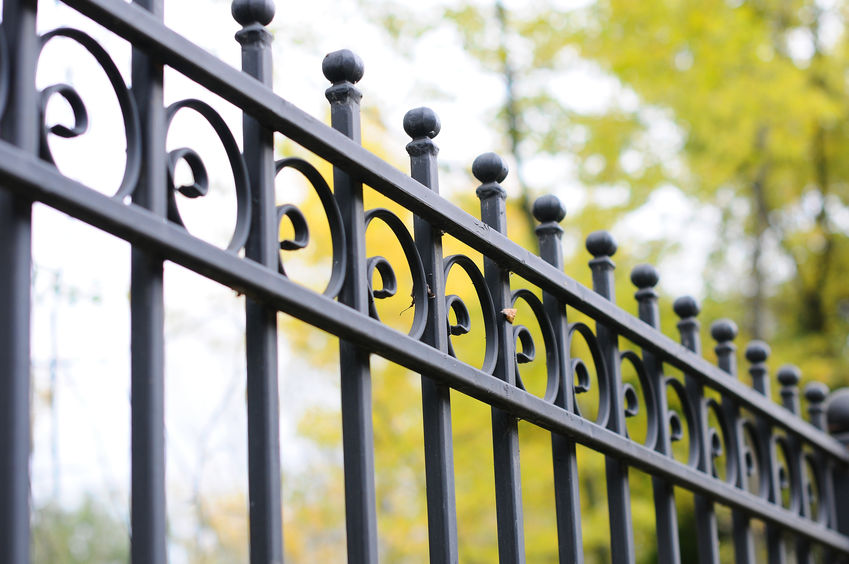 ornamental iron fence Denver historic design