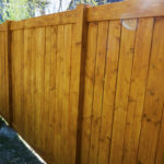wooden residential fencing company Denver