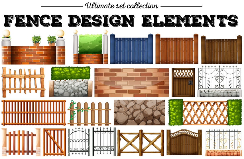 Brighton fence design element options