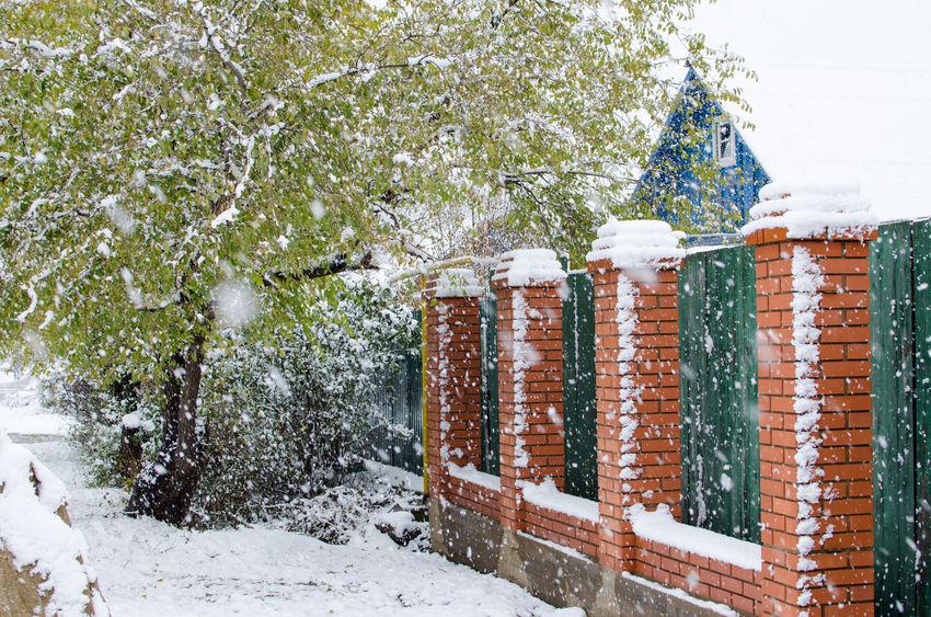 Thornton fence company - brick and iron fence