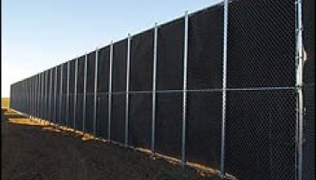 view of a sound barrier fence in denver
